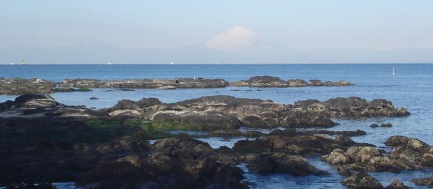 横須賀市長井港からの富士山-横濱テック