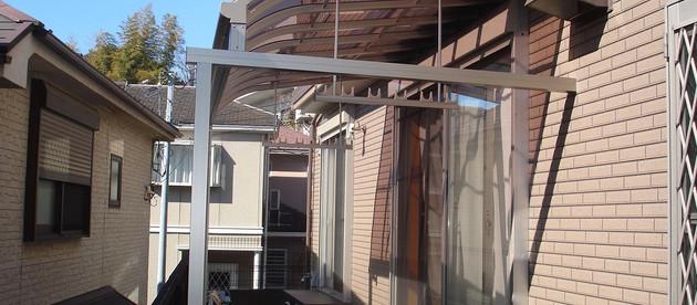 M邸 テラス工事・加工、濡れ縁の工事を行いました。-横濱テック