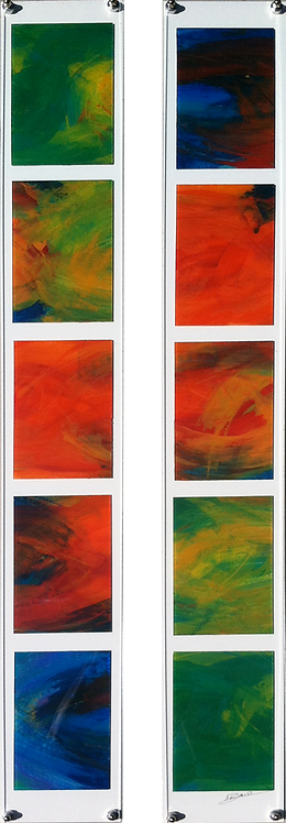Abstract Composition, diptych