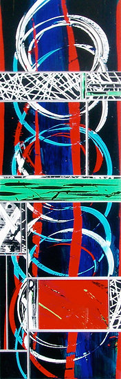Spiral movements in the dark (Series) No. 001