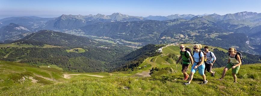 panorama d'une randonnée à la Bourgeoise