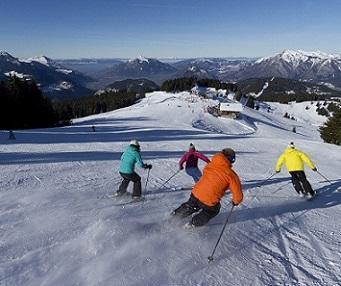 Ski sur le Grand Massif