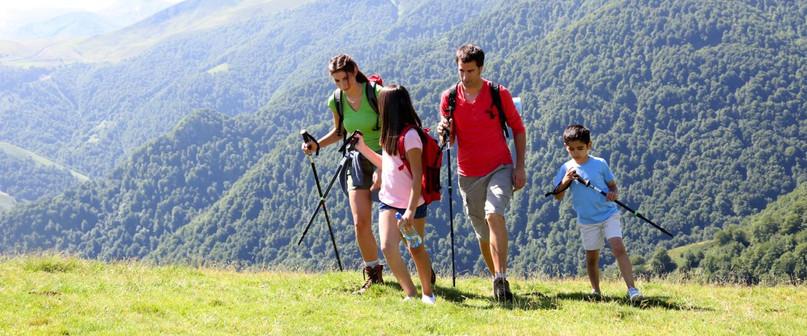 randonnée en montagne en famille à samoens
