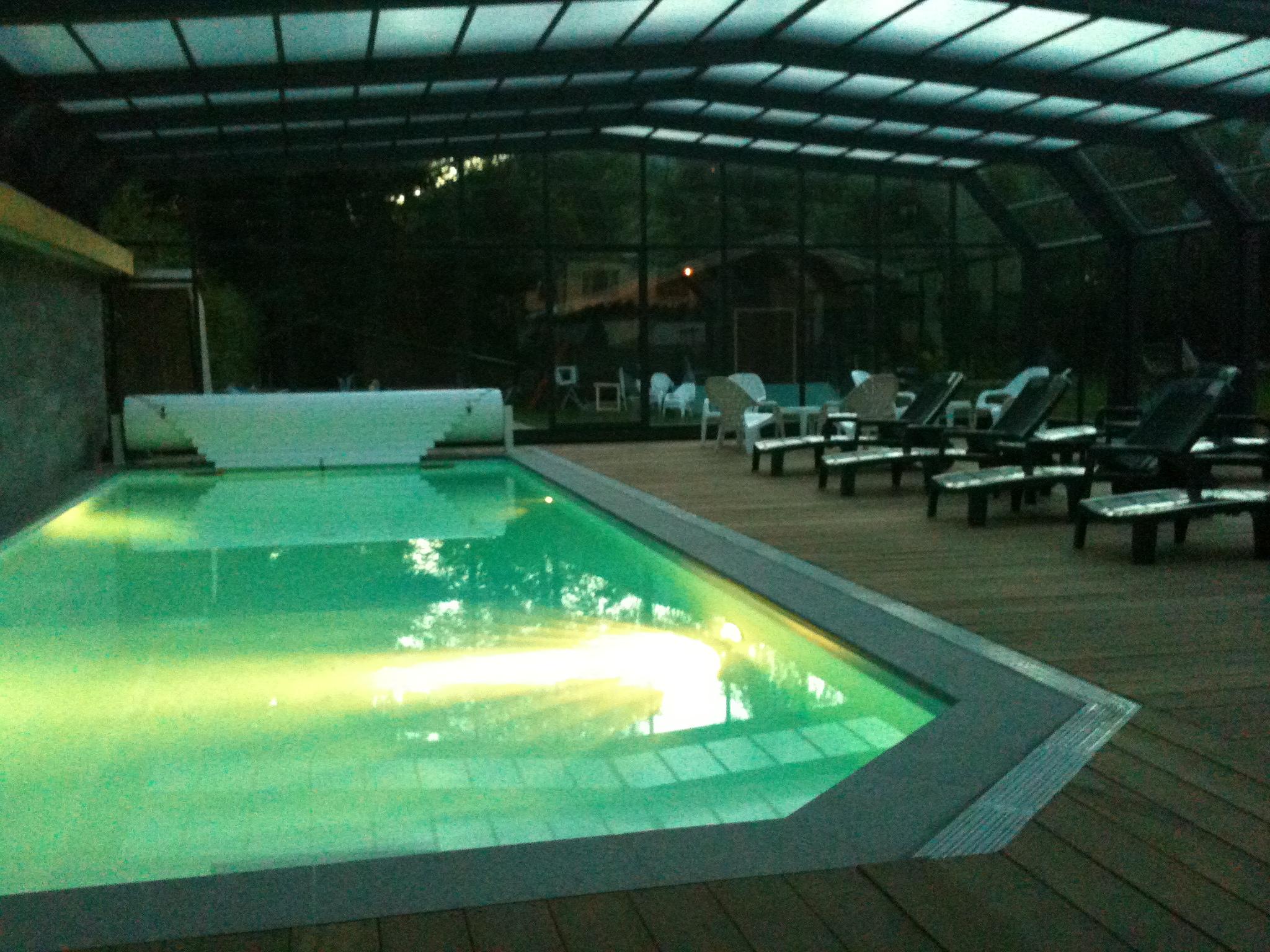 piscine chauffée de l'hotel