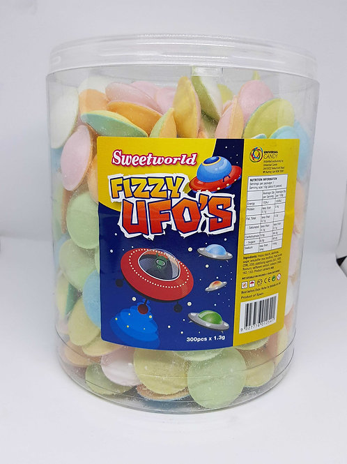 Fizzy UFOS 20 Pack Space Party Lollies Candy