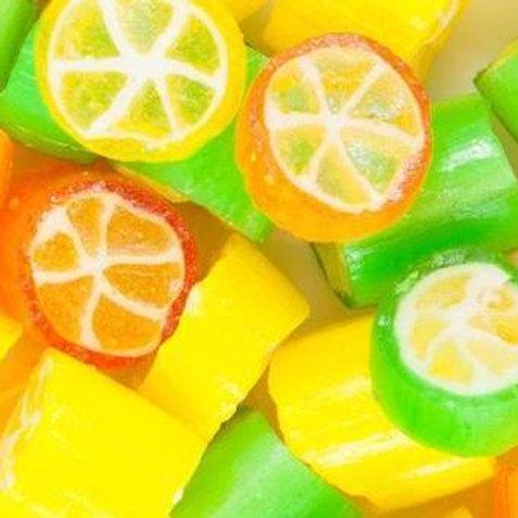 Citrus Rock Candy Lollies