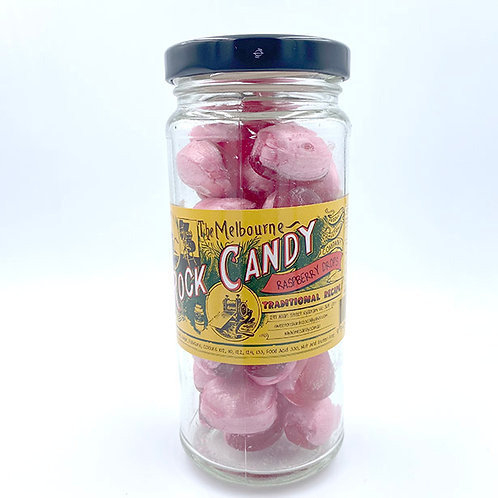 The Melbourne Rock Candy Raspberry Drops 170g