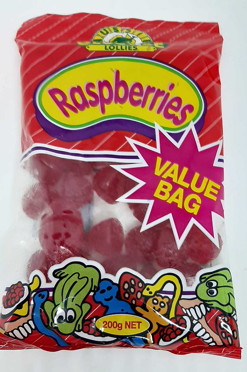 Raspberries Value Bag Confectionery Lollies
