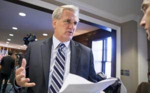 Majority Leader Kevin McCarthy, R-Calif., speaks with…