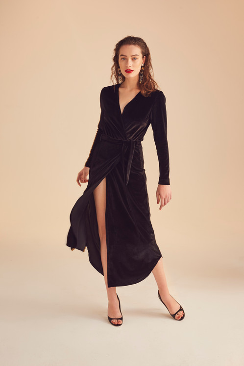 Robe portefeuille noire