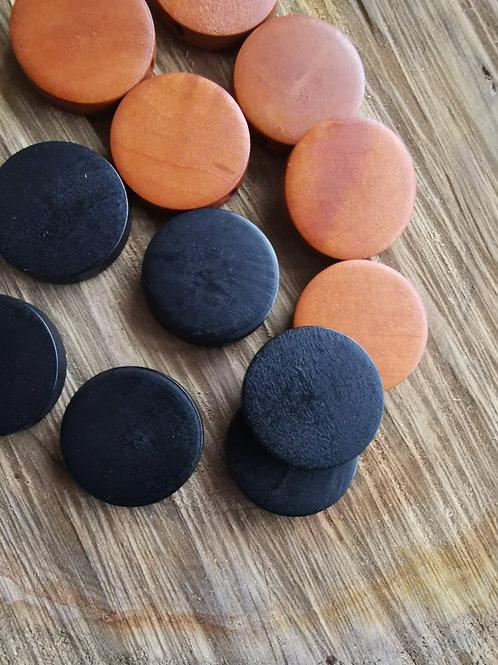 Flat Wood Beads