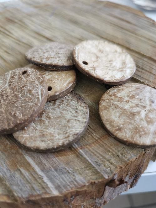 Coconut Round Pendant
