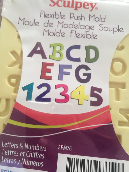 Flexible Push Mold (alphabet & numbers)