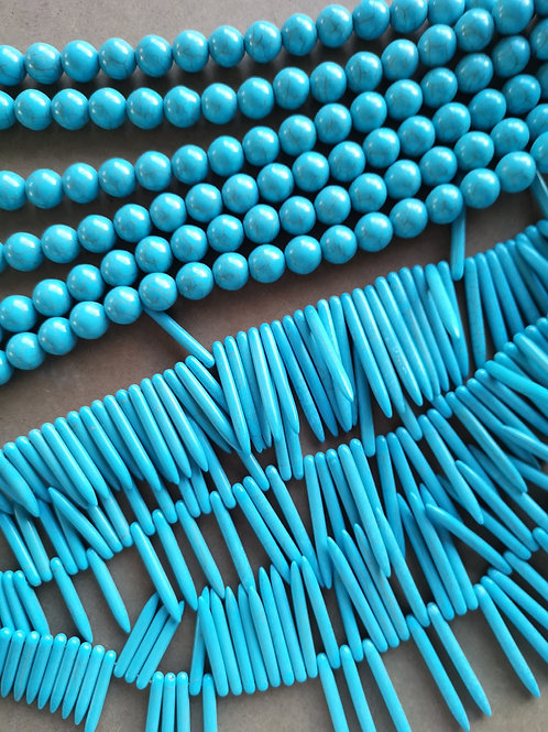 Synthetic Howlite Beads