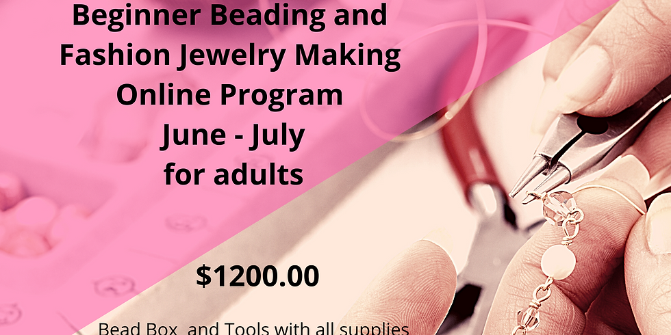 Beginner Beading & Fashion Jewelry Making. Six weeks exploring a new skill. Never miss a live class, replay avail... (1)