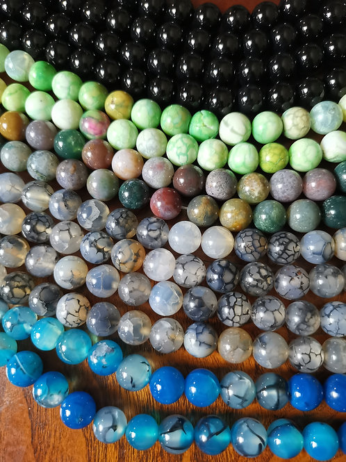 Stone Beads 10mm. Pick your stone.