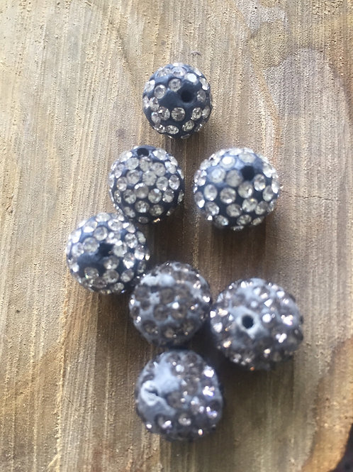 Polymer Pave Clay Rhinestone Beads