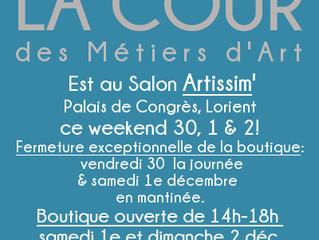 Hors Murs: Salon Artissim' ce weekend!