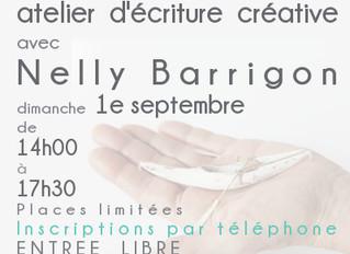 Atelier d'écriture créative autour du voyage avec Nelly Barrigon - nouvelle date: le 1e septembr