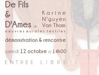 Démonstration et reconcontre avec Karine N'guyen Van Tham lors des derniers jours de l'expos