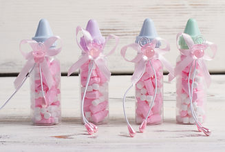 Garrafas de bebê rosa