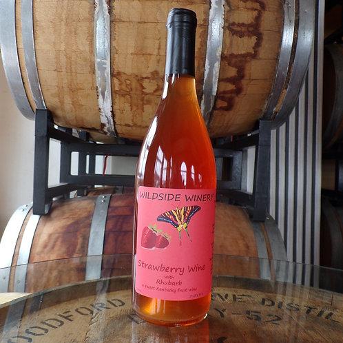 Strawberry Wine with Rhubarb