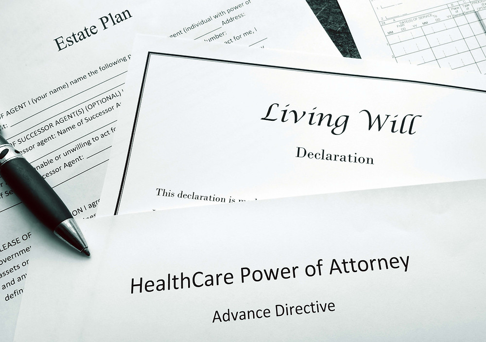 Legal papers - estate planning and living will