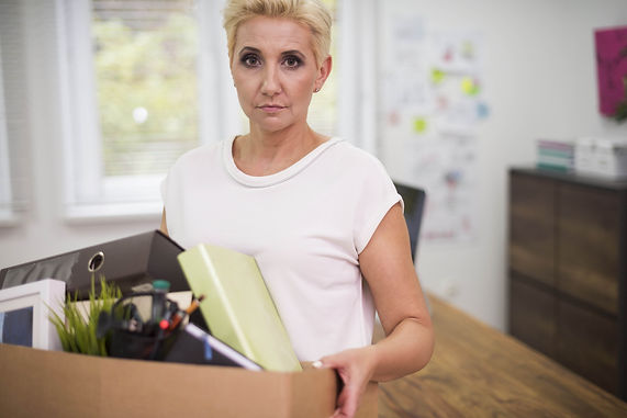 employment law - woman being fired from job