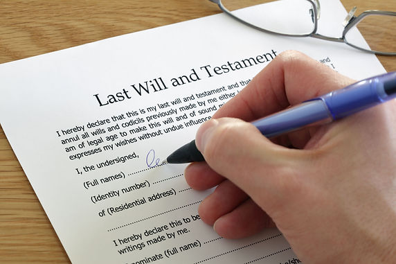 Estate planning - wills and health care proxies