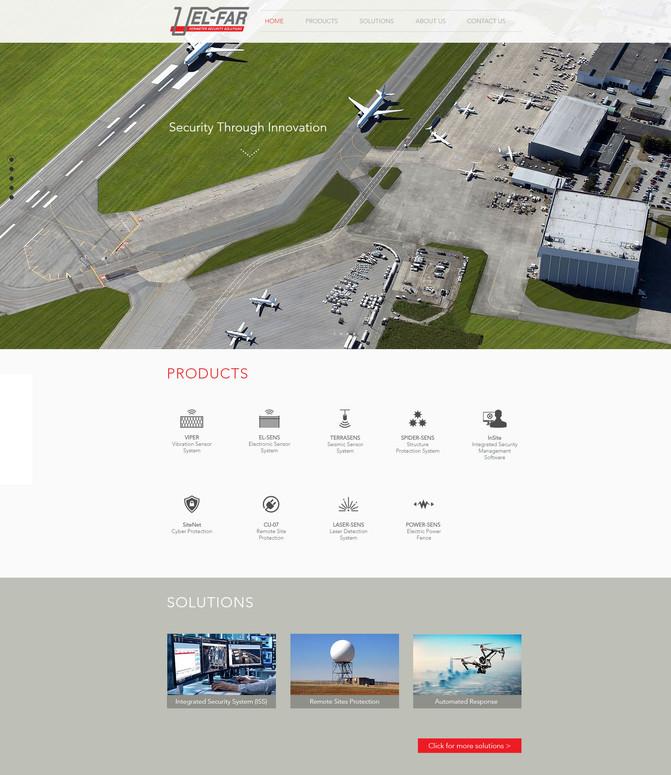 """עיצוב אתר לאל-פר אלקטרוניקה מערכות 2000 בע""""מ"""