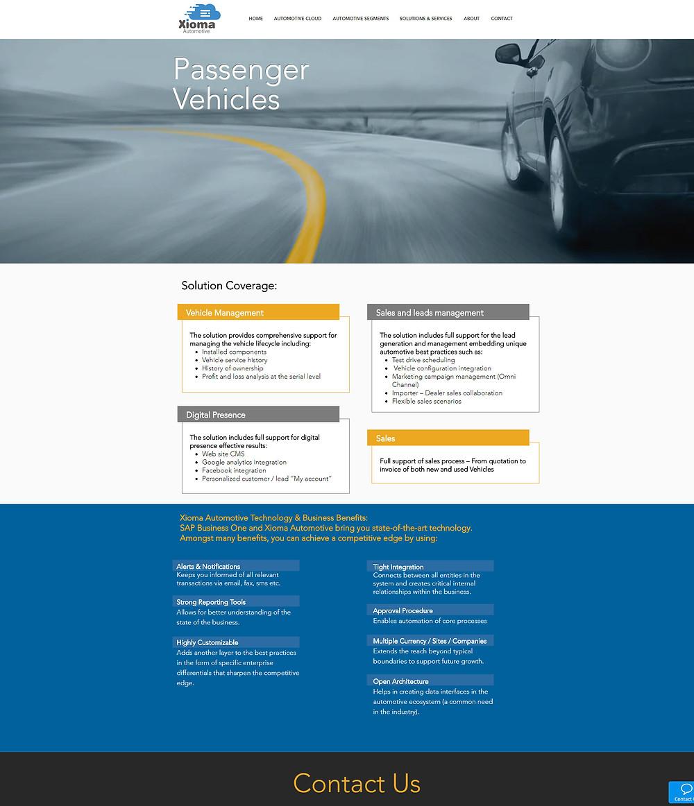סטודיו תלתן - עיצוב אתר WIX - Xioma-automotive עיצוב אתר
