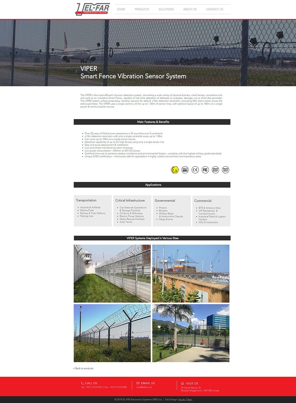 """סטודיו תלתן - עיצוב אתר לאל-פר אלקטרוניקה מערכות 2000 בע""""מ"""