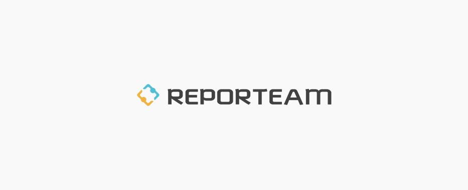 סטודיו תלתן - REPORTEAM עיצוב לוגו ומיתוג