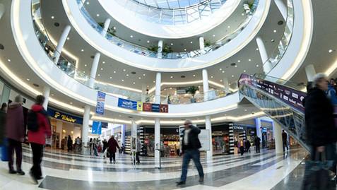 Interior design Mall Pardubice, Czech