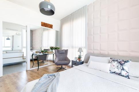 עיצוב חדר שינה רך ונעים