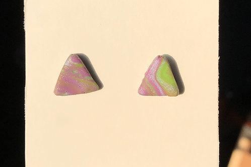 Purple/Green Earrings