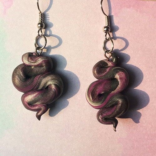 Marbled squiggle earrings