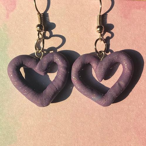 Heart sparkle earrings