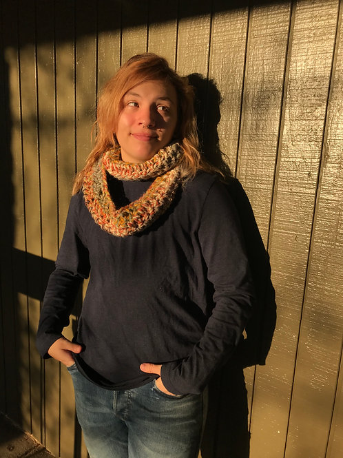 Fall Colored Infinity Scarf