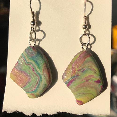 Marbled dangley earrings