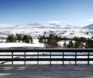 Flott utsikt fra flere av hyttene