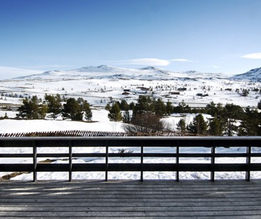 Utsikten er flott i fjellet!