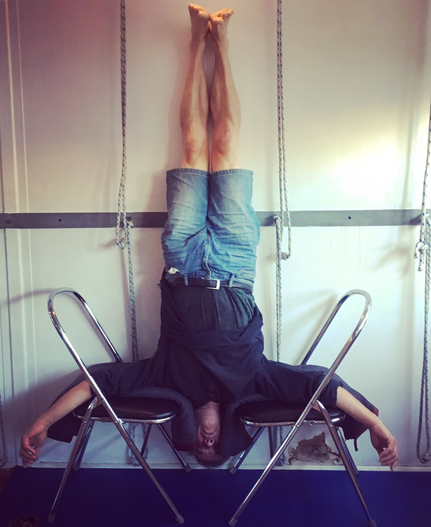 Headstand 2 chairs