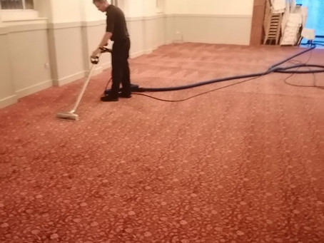 Commercial carpets or seating need a clean.