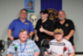 The on-air team L-R Tim Larry Pete Josh Jack
