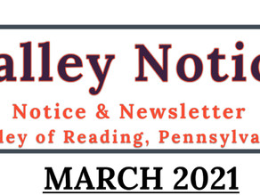 March 2021 Valley of Reading Notice