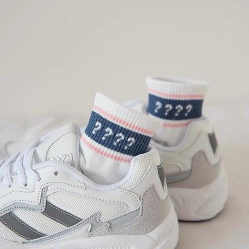 White Striped Socks