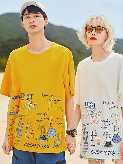 Test White, Red and Yellow T-Shirt