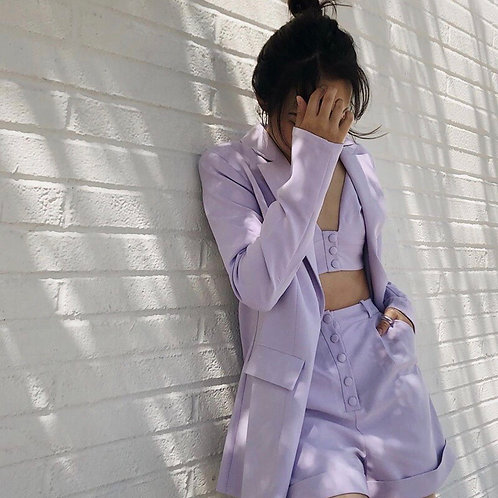 Holiday Casual Purple Suit