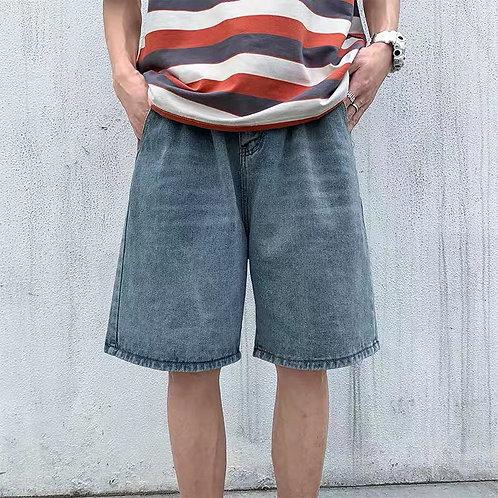 Light Blue Loose Shorts